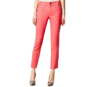 J.Crew Womens 6 & 4 Coral Stretch Cafe Capri Pants